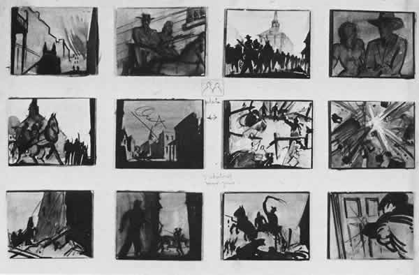 Movie Storyboard | The Treatment Of A Storyboard From The Movie Gone With The Wind