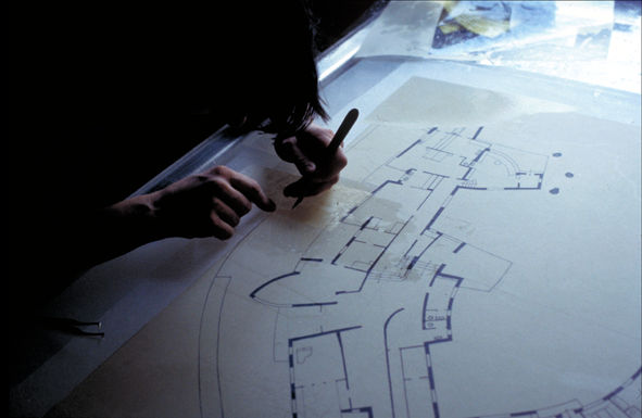 Architectural Drawings On Transparent Paper Modifications